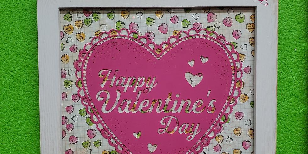Valentines with Chalk Paste