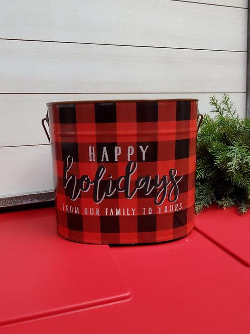 Happy Holiday bucket