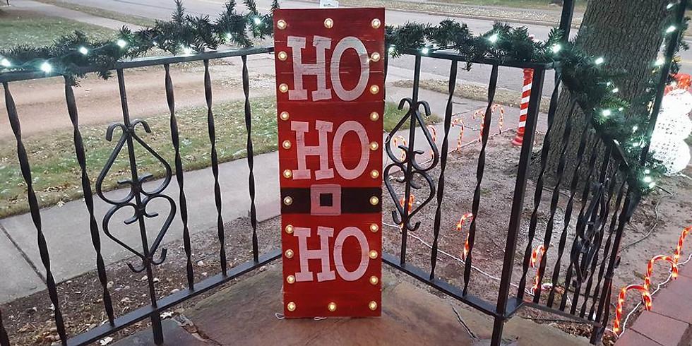 Ho Ho Ho Lighted Sign - Class FULL