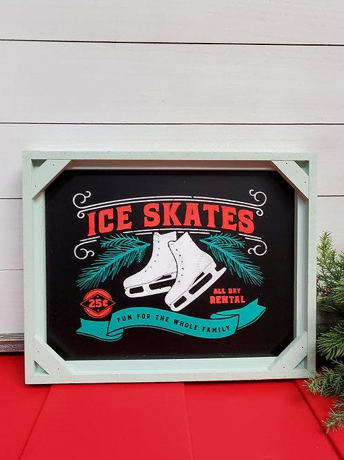 Ice Skate Sign