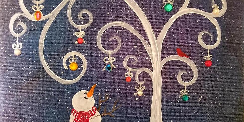 Snowman Ornament Tree