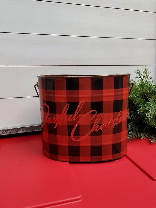 Joyful Christmas bucket