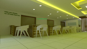 Proposed interiors for a bank at Trivandrum