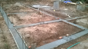 Foundation for a residence at kollam