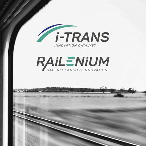 Identité visuelle & charte graphique des marques i-Trans et Railenium