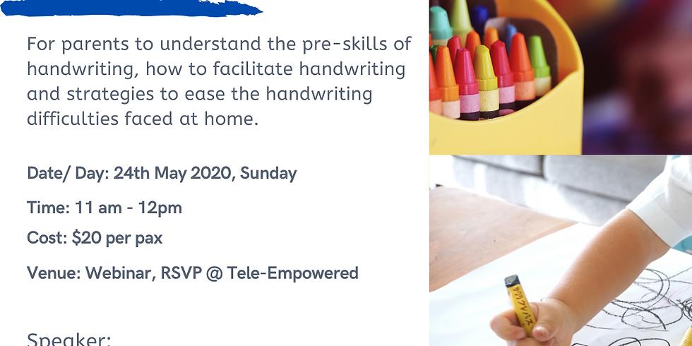 Handwriting - A Chore for my KID!