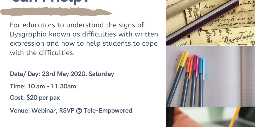 Dysgraphia - How can I help?