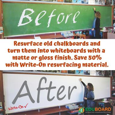 Write-ON Resurfacing Material