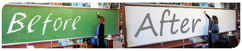 Write-On Resurface Old Chalkboards