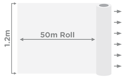 Write-On Roll Size