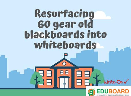 Resurfacing 60 Year Old School Blackboards by EduBoard