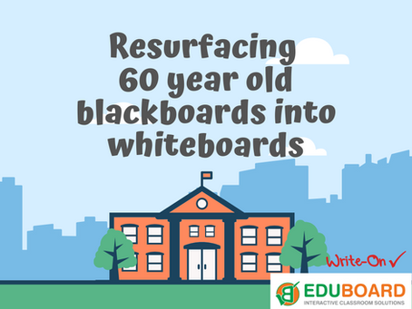 Resurfacing 60 Year Old School Blackboards by EduBoard