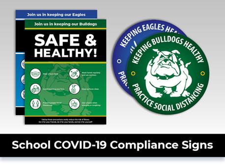 School Covid19 Signs