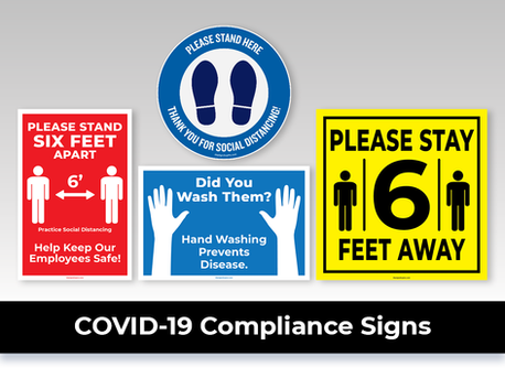 COVID 19 Compliance Signs