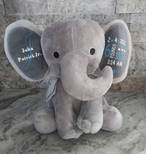 Elephant Birth Announcement Stuffed Animal