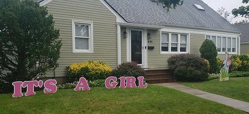It's A Girl Lawn Letters - Rental