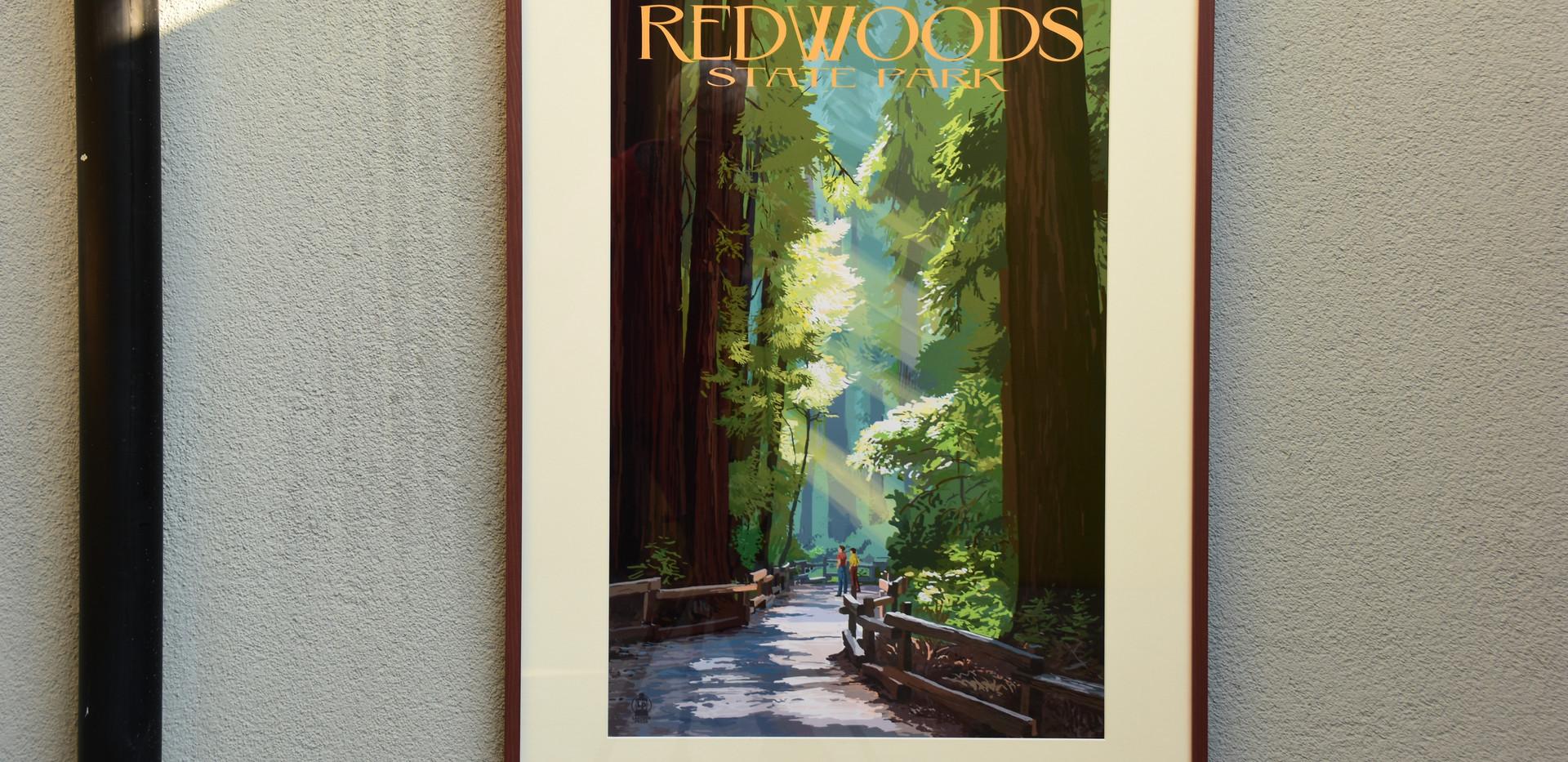 Vintagedruck Redwood Forest