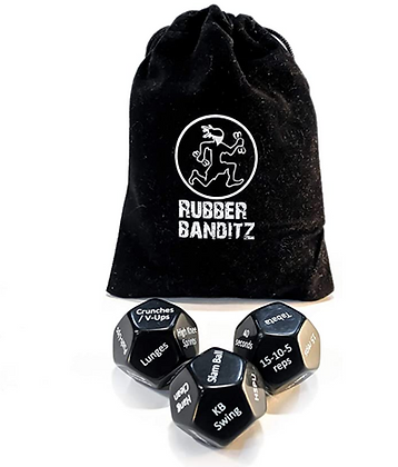 Rubberbanditz Exercise Dice for Workouts - Full Body Fitness & Workout on Demand