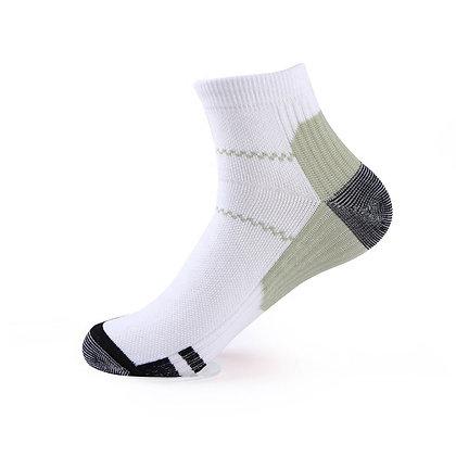 Tri-Block Athletic Ankle Socks in Camo