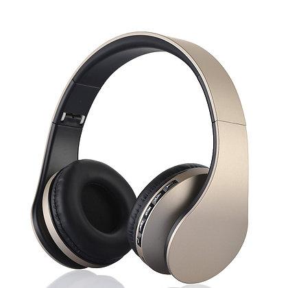 EK7525 Gold Tone Foldable Headphones
