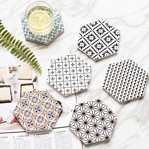 Nordic Geometric Coasters