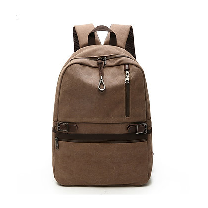 Canvas Laptop Backpack in Tan