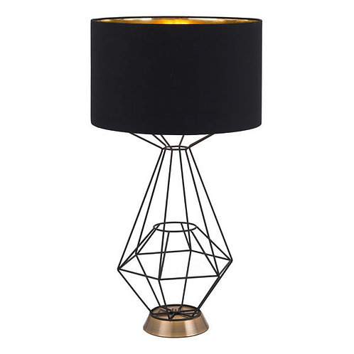 Black Geometric Table Lamp Black