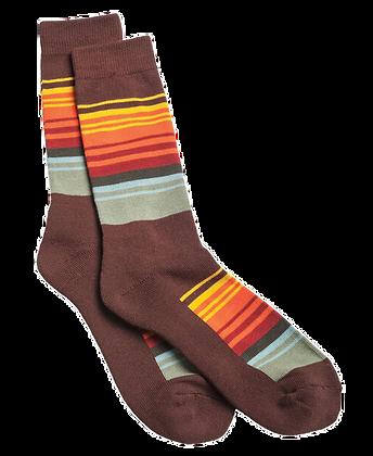 Maron Stripes Socks