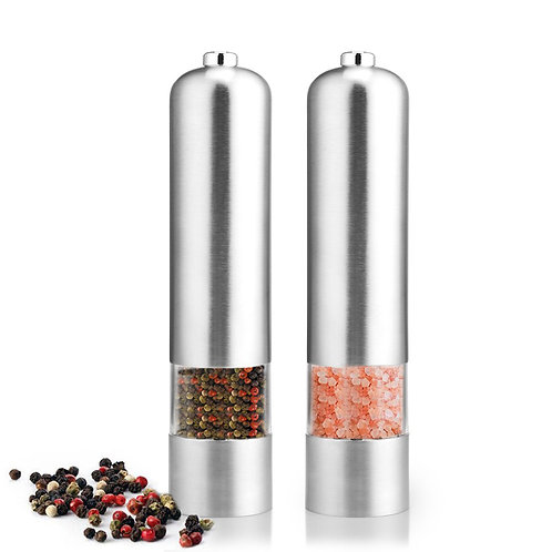 Battery-Operated Electric Salt & Pepper Mill