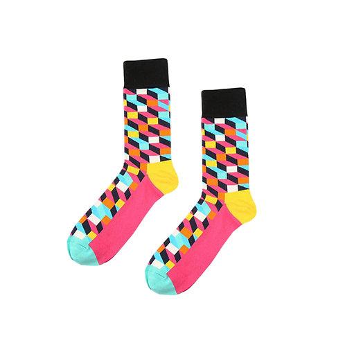 Color Pop Blocked Socks