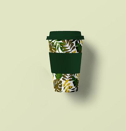 Green Leaves Bamboo Fiber Mug