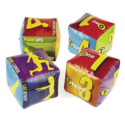 Inflatable Fitness Dice