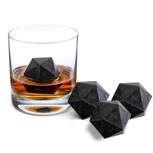 Diamond Shape Whiskey Stones Gift Set