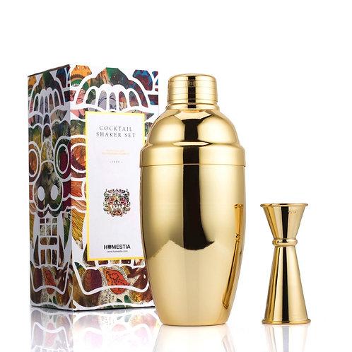 Gold Cocktail Shaker Bar Set