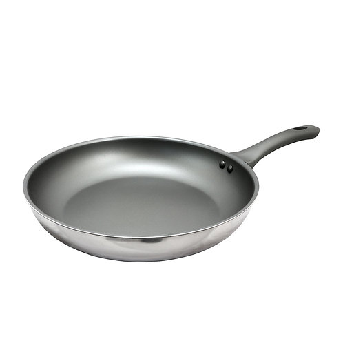 12 inch Aluminum and Stainless Steel Frying Pan