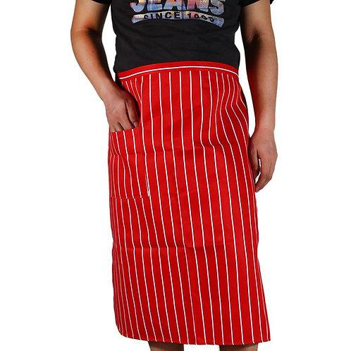 Chef's Red Striped Half Apron