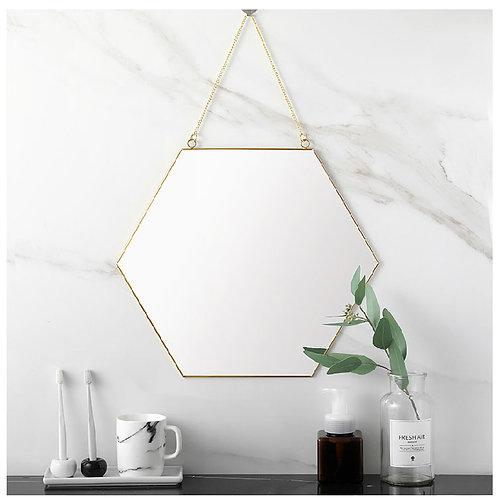 Hexagon Hanging Mirror