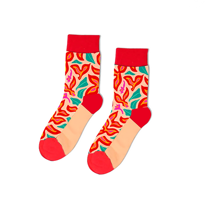 Abstract Flower Socks