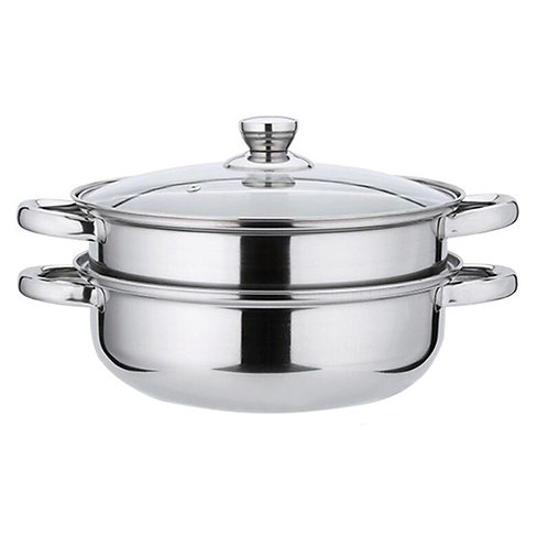 2-Tier Stainless-Steel Cookware