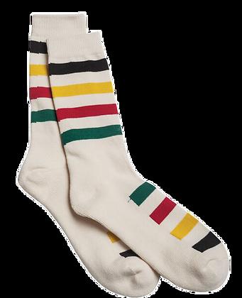 White Stripes Sock