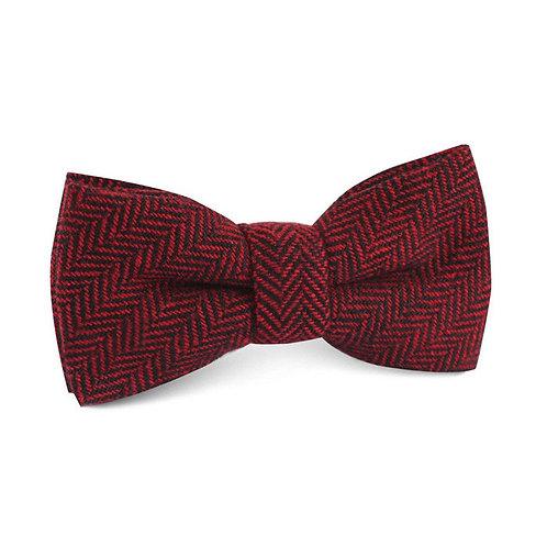 Red Tweed Bow Tie