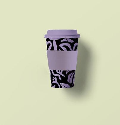 Abstract Floral Bamboo Fiber Mug