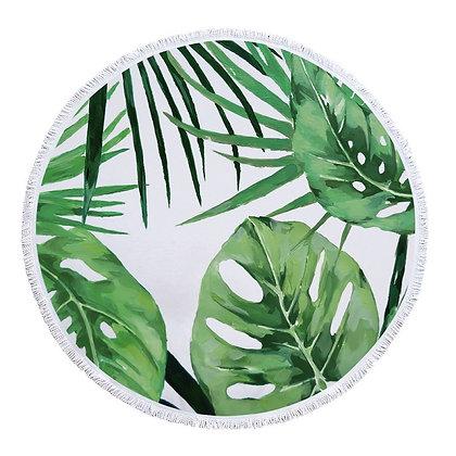 Plain Tropical Leaves Beach Roundie