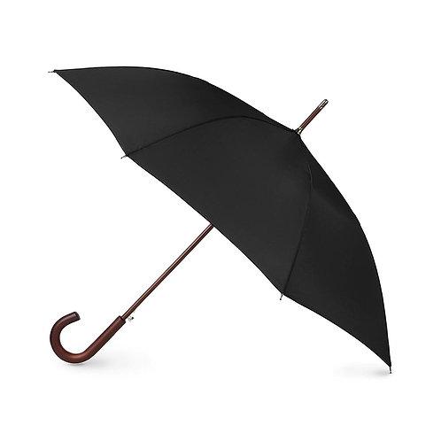 Black Umbrella Wood Handle