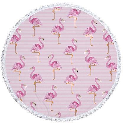 Flamingo Pink Beach Roundie