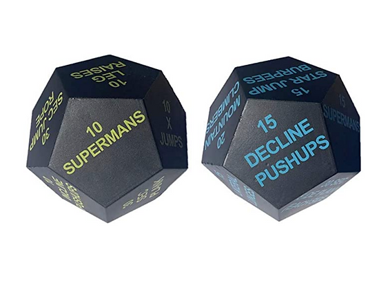 Series 8 Fitness Exercise Dice 2020 Edition - Beginner Bright Green and Intermed