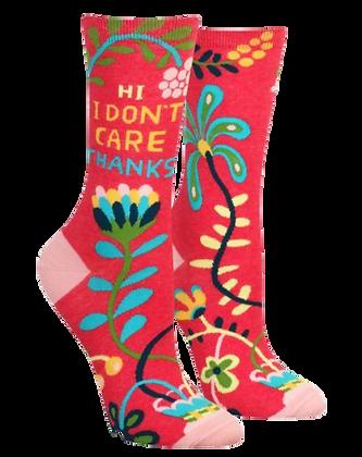 Red Floral Socks