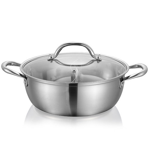 Two Compartment Stainless Steel Pot