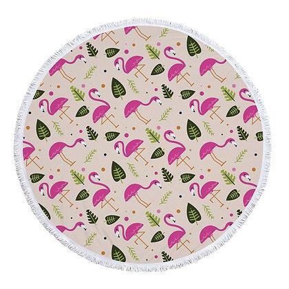 Flamingo Designed Beach Roundie