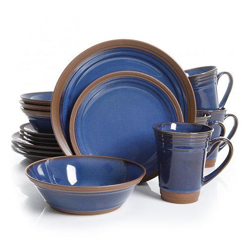 Gibson Elite Brynn 16 Piece Stoneware Dinnerware Set